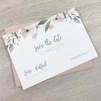 Save the Date Karte - Blumen Pastell 2