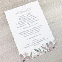 Menükarte - Blumen Pastell