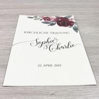 Deckblatt Kirchenheft - Classic Bordeaux