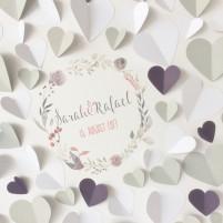 3D Gästebuch - DYS Set zum Selberkleben Blumenkranz