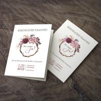 Deckblatt Kirchenheft - Vintage/Schlicht Misty Rose