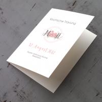 Deckblatt Kirchenheft - Vintage/Schlicht Altrosa