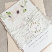 Einladung - Vintage/Blumen VI
