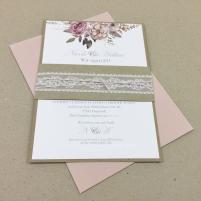 Einladung - Boho/Rustikal Karte mit Hintergrund