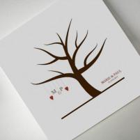 Wedding Tree - Gästebuch auf Leinwand 50x50 cm
