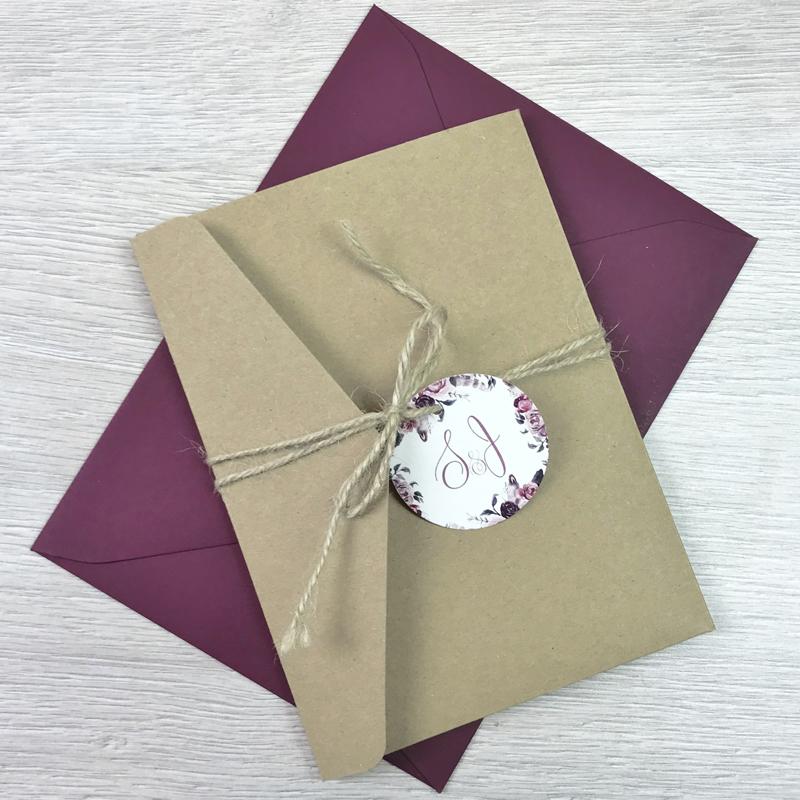 Einladung - Pocketkarte Rosen
