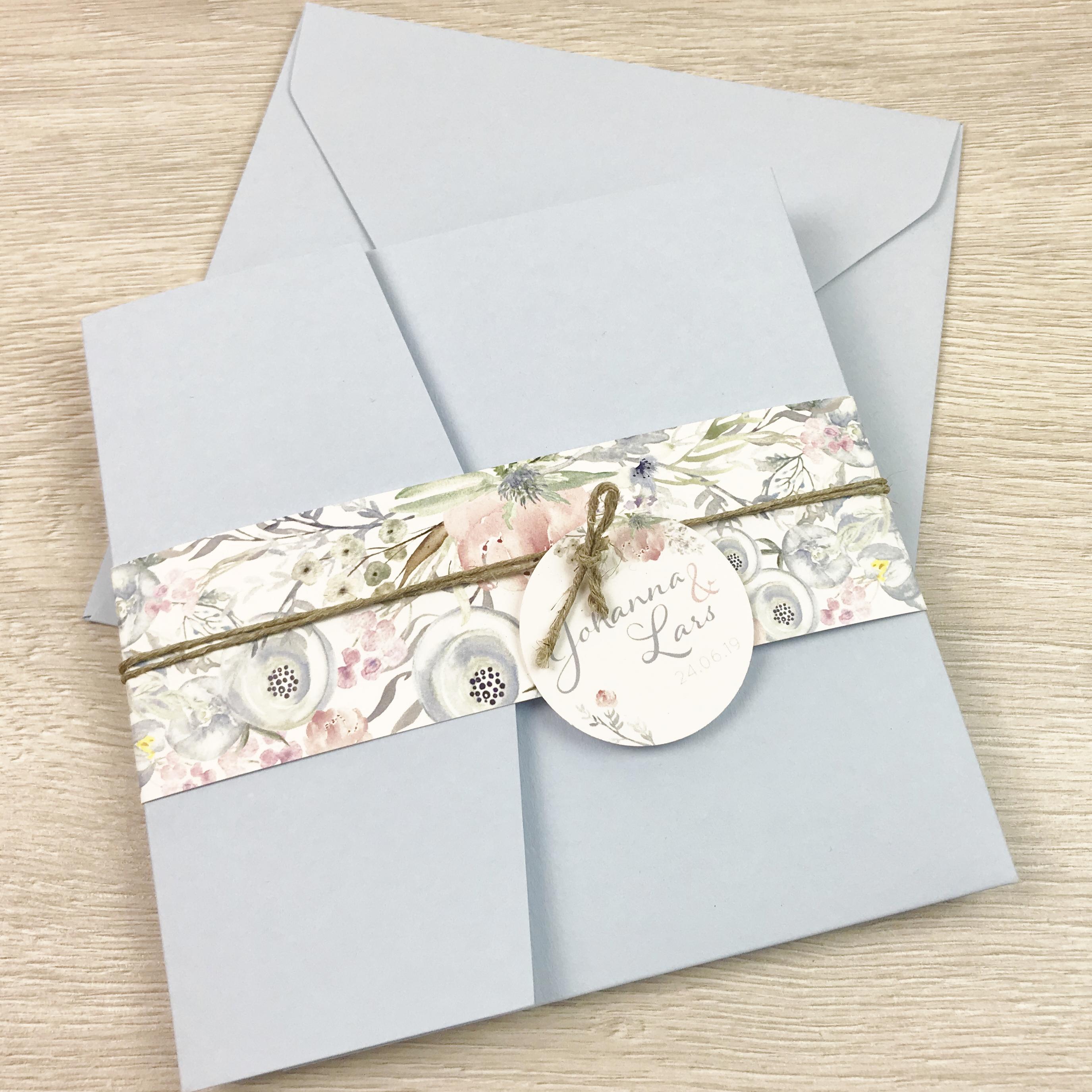 Einladung - Pocket Taubenblau