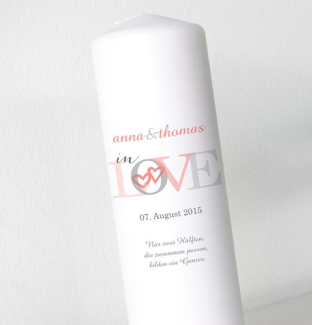 Hochzeitskerze - In love