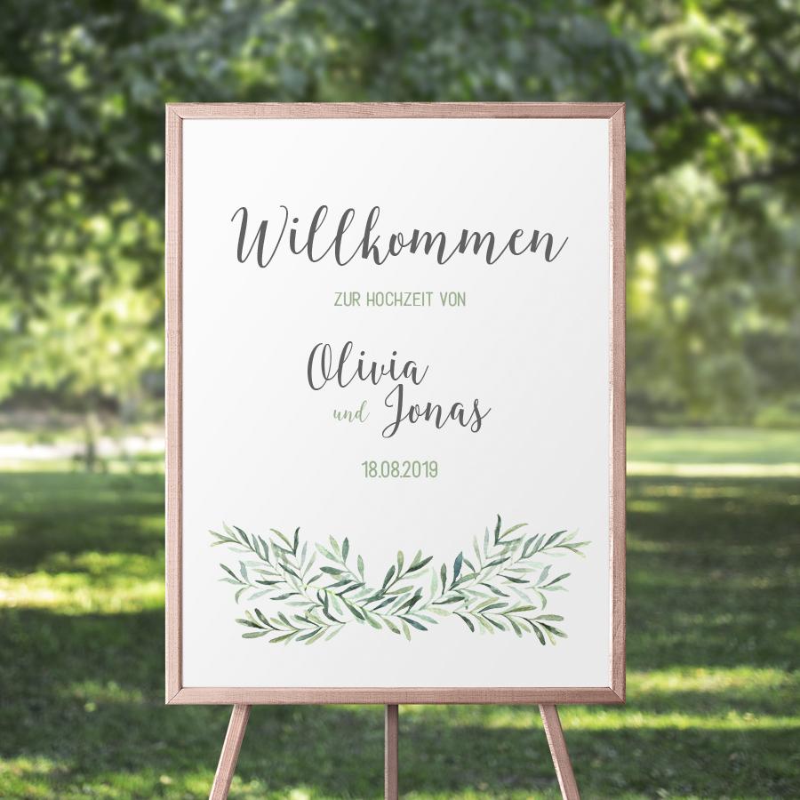 """Poster """"Willkommen"""" DIN A3 (57)"""