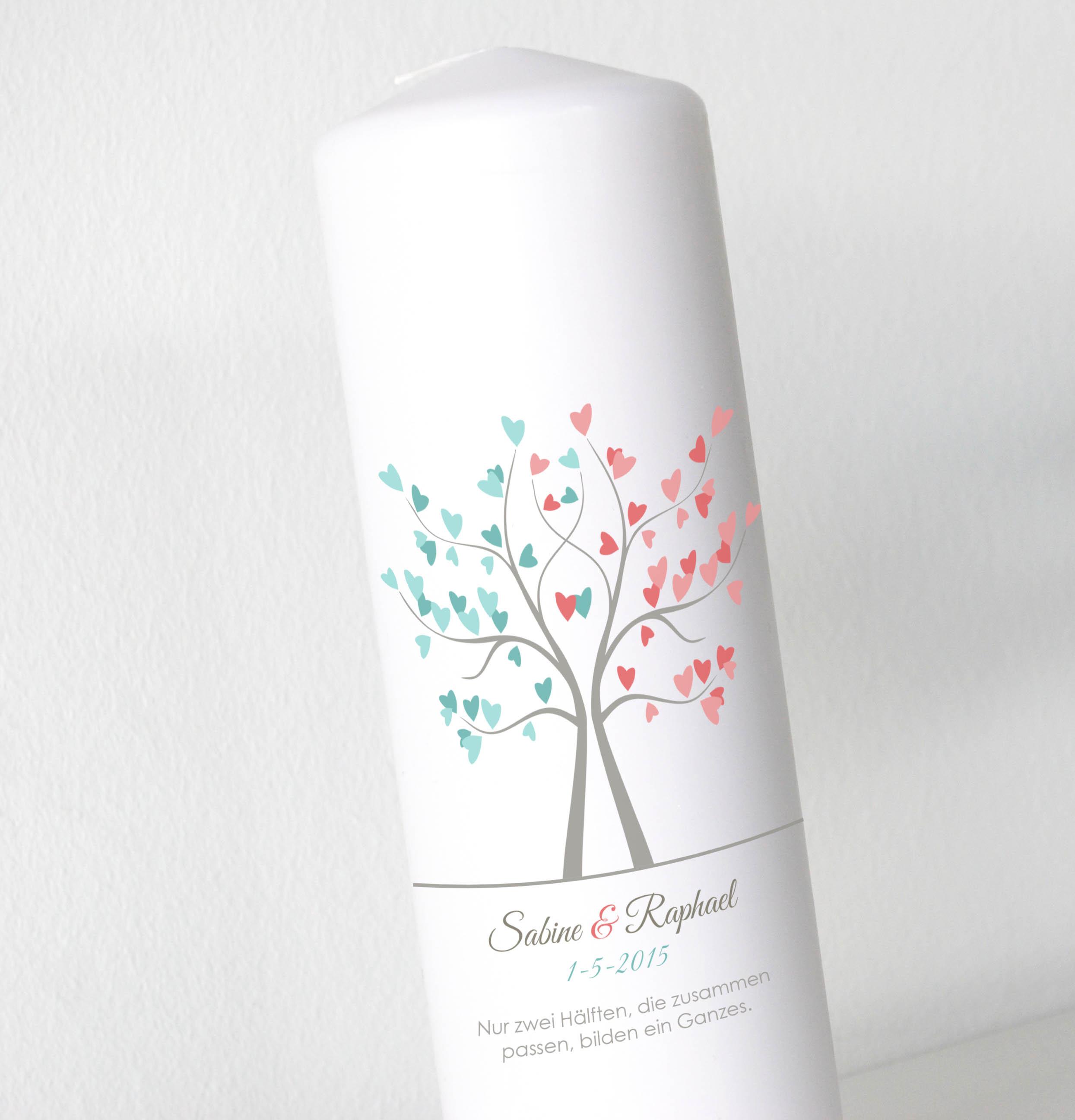 Hochzeitskerze - Liebesbaum2