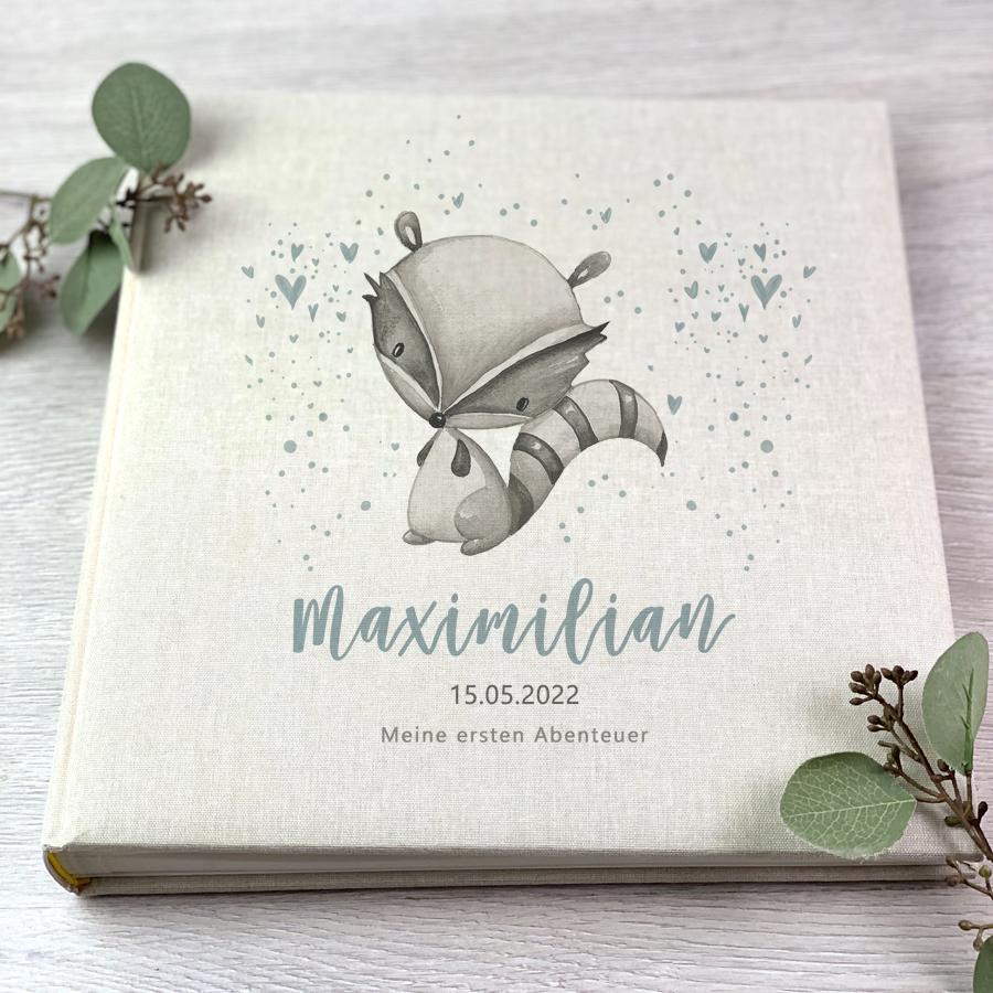 "Fotoalbum - Waschbär ""Maximilian"" - Beige"